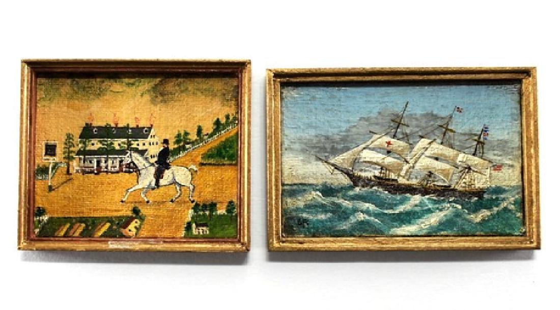 George Schlosser Equestrian & Ship Paintings for