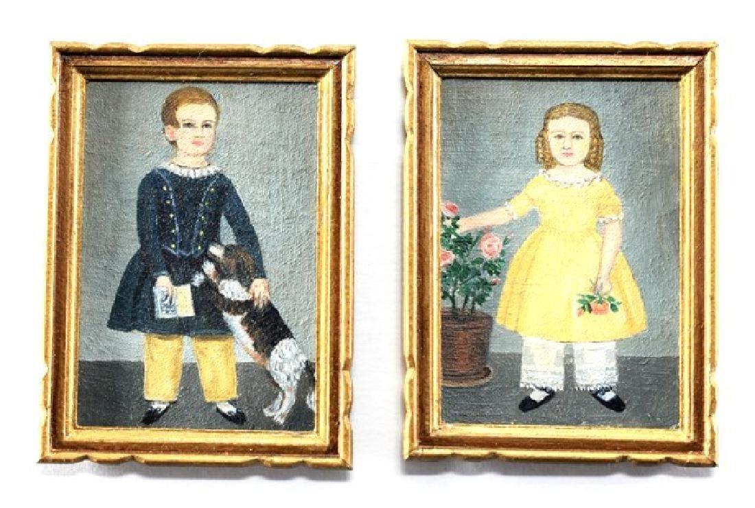 Marjorie Adams Pair of Children's Portraits for