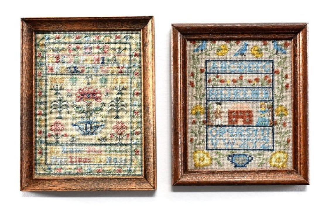 Two Annelle Ferguson Samplers for Dollhouse Miniatures