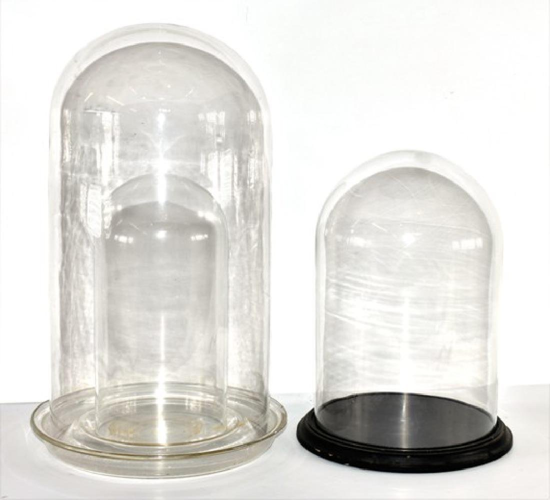 Two Glass Display Domes for Miniatures