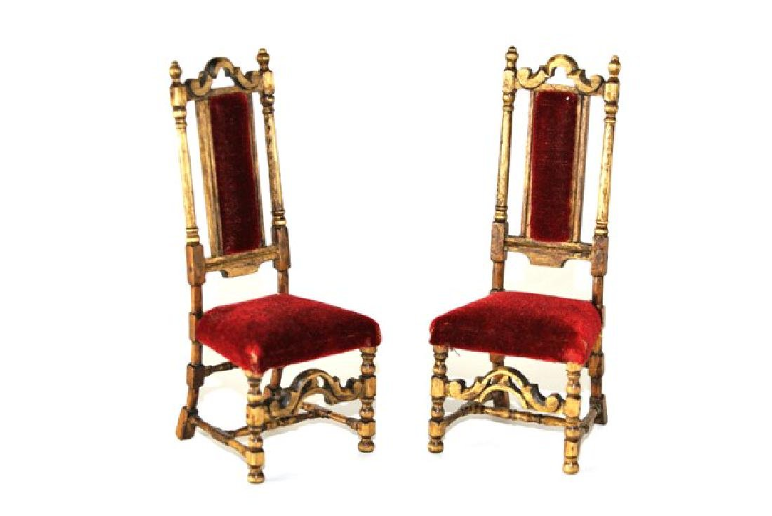 Betty Valentine Pair of 17th Century Style Chairs for