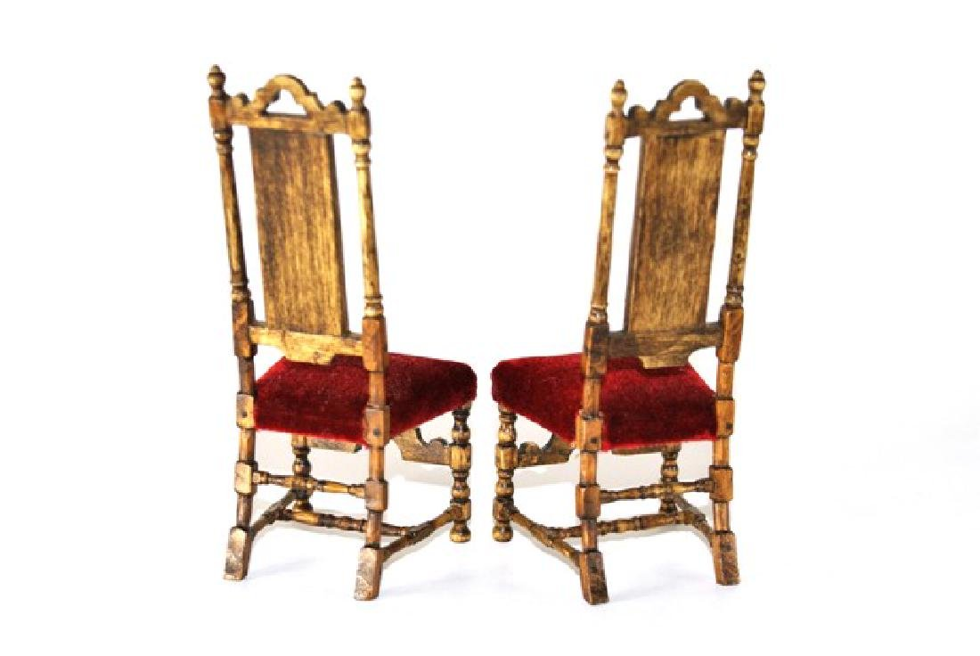 Betty Valentine Pair of 17th Century Style Chairs for - 2