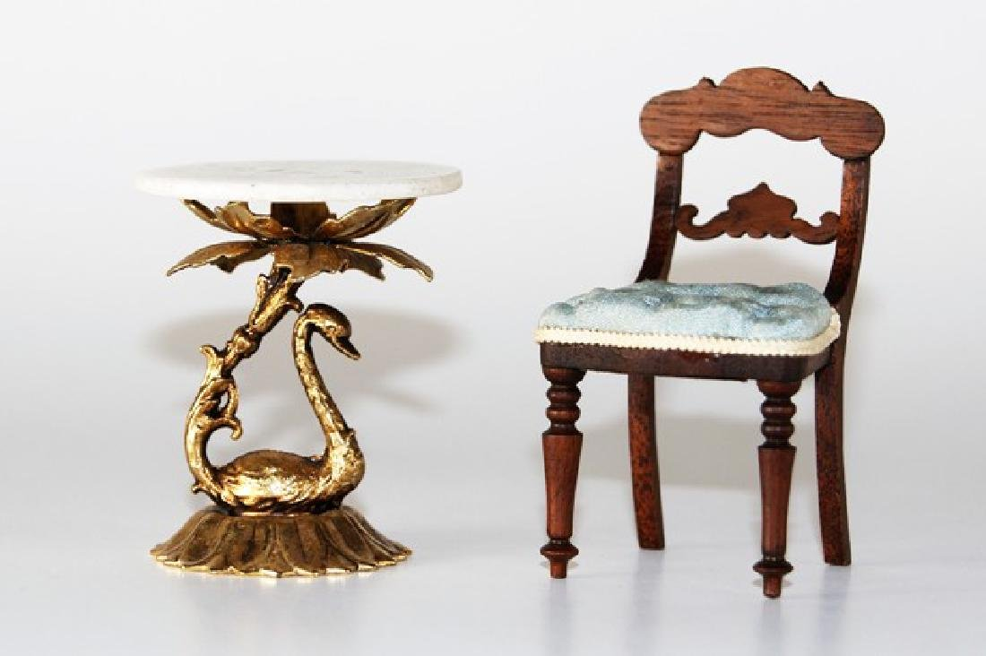 Betty Valentine Chair & Table for Dollhouse Miniatures