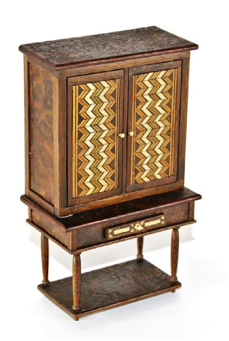 Petite Antiquary Collector's Cabinet for Dollhouse