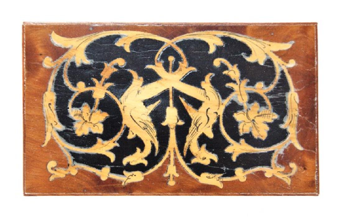 Petite Antiquary French Marquetry Table for Dollhouse - 3