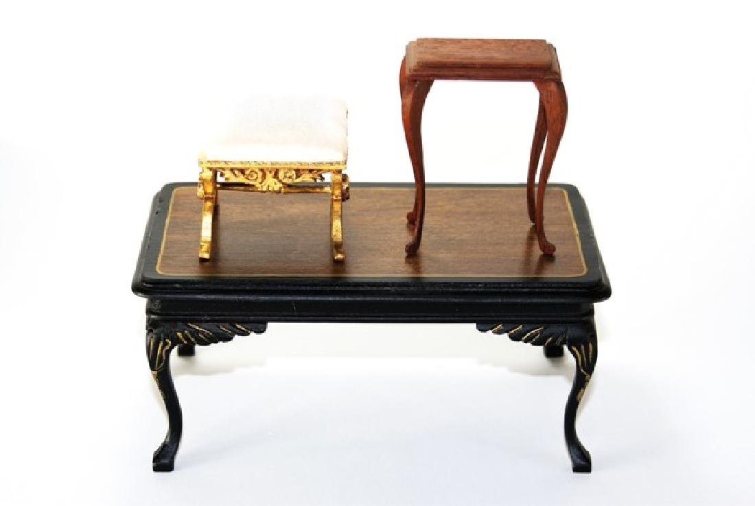 Skip Walton Bench & Tables for Dollhouse Miniature