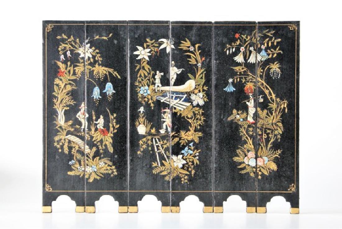 Oriental Floor Screen for Dollhouse Miniature