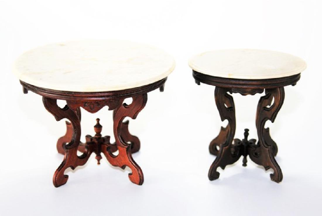 Nic Nichols Marble Top Tables for Dollhouse Miniatures