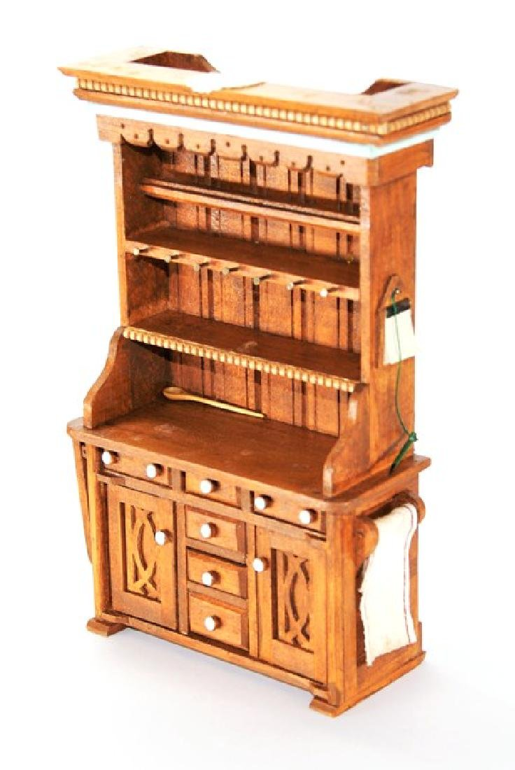 Den Young Country Hutch for Dollhouse Miniature