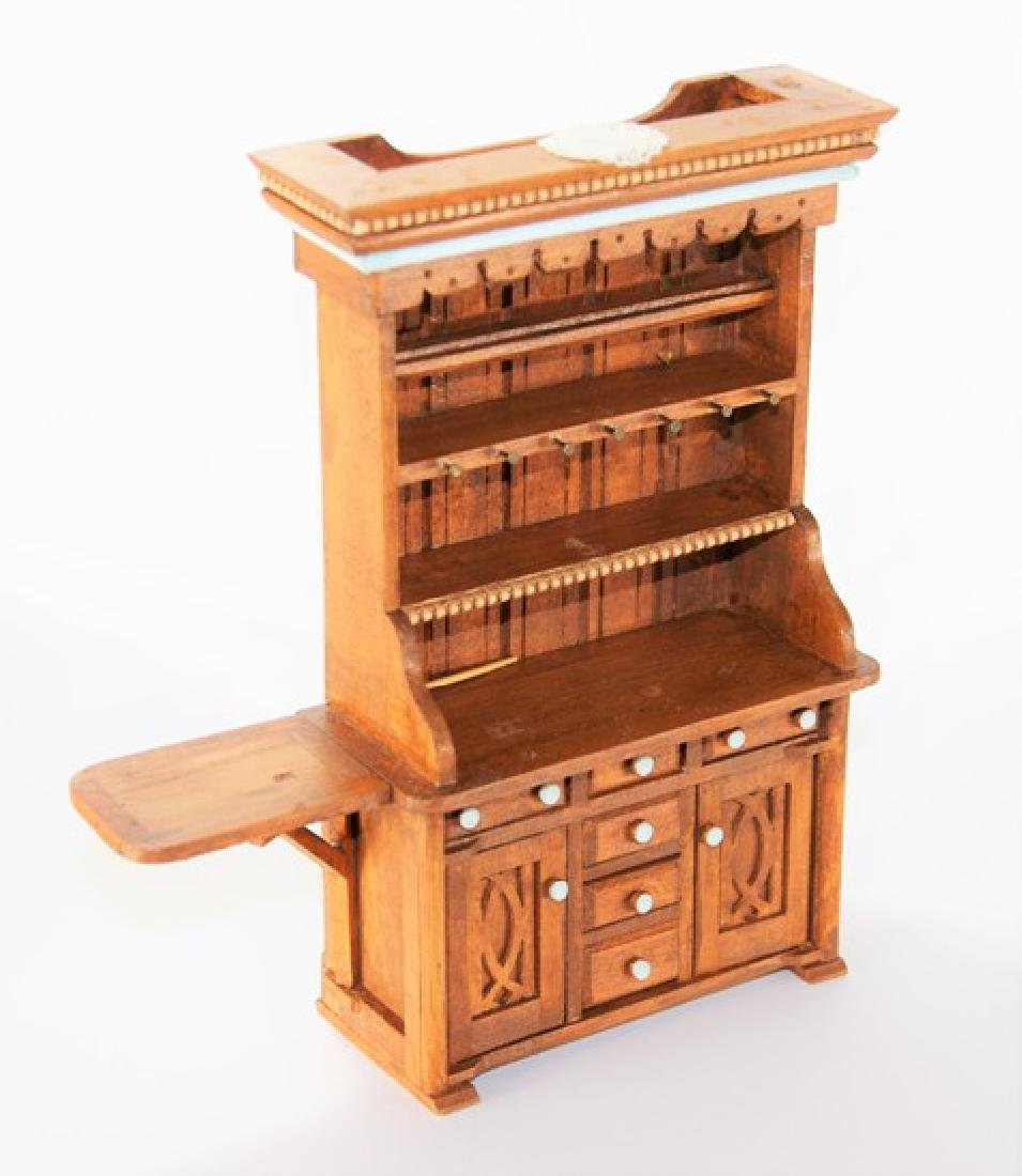 Den Young Country Hutch for Dollhouse Miniature - 2