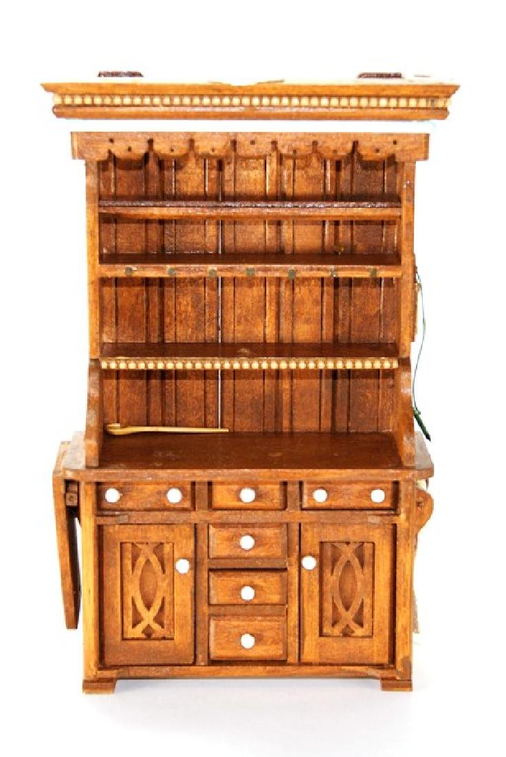 Den Young Country Hutch for Dollhouse Miniature - 3