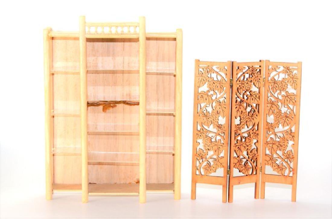Joe Turner Bamboo Etagere for Dollhouse Miniature