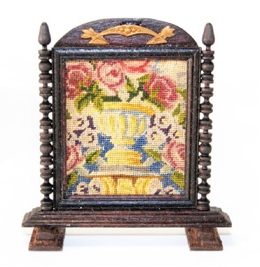 Artisan Petit Point Furniture for Dollhouse Miniatures - 3