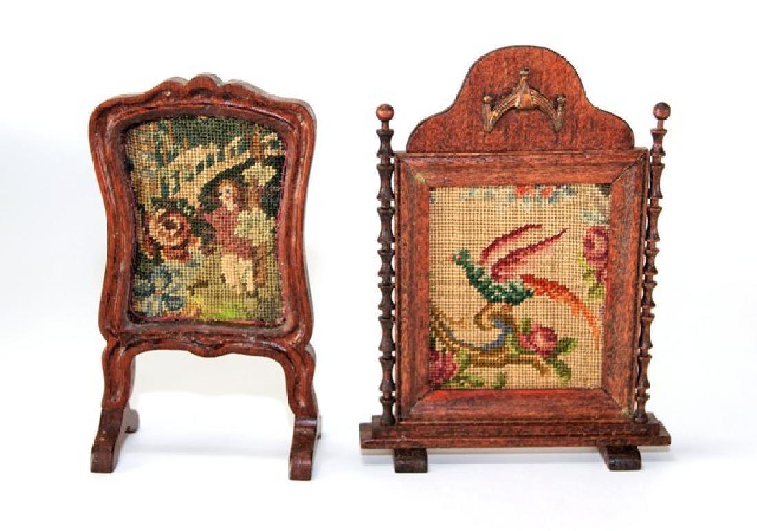 Artisan Petit Point Furniture for Dollhouse Miniatures - 4