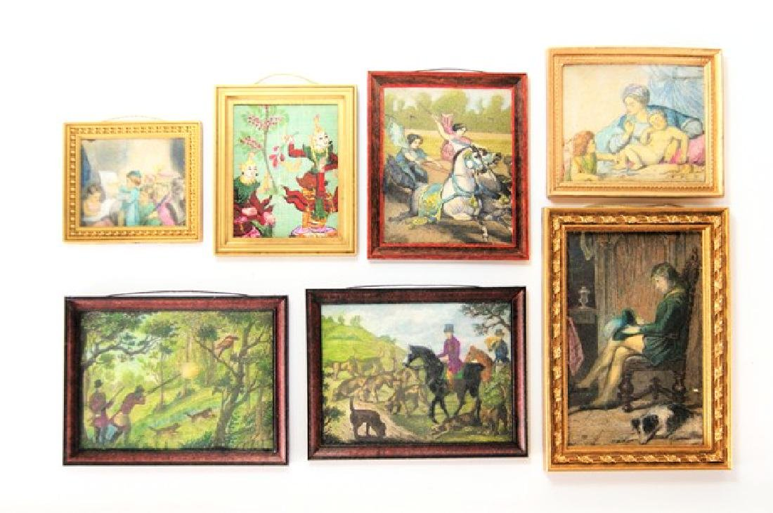 19th Century Hand Tinted Prints for Dollhouse