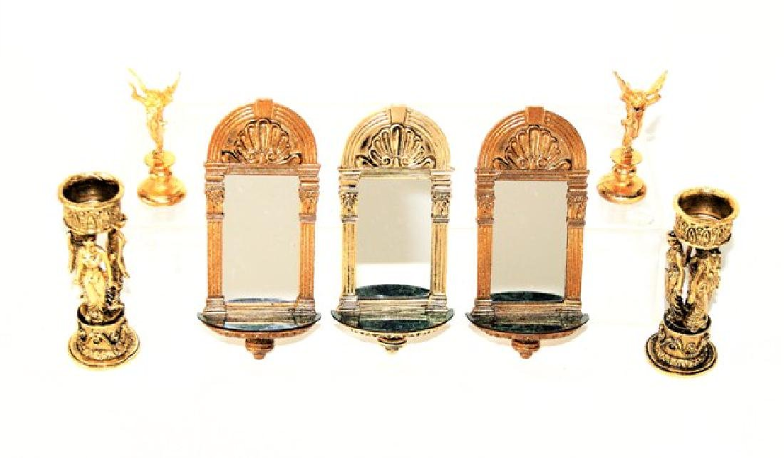 JKM Brass Mirrors, Planters & Statues for Dollhouse