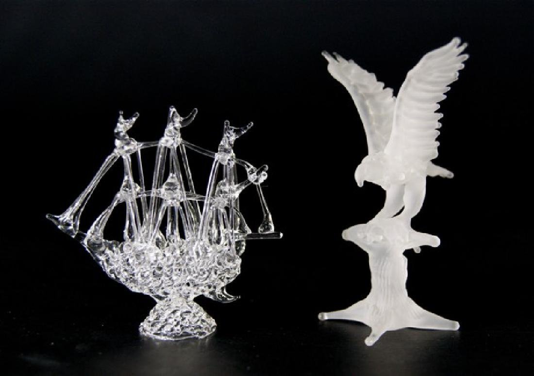 Glass Blowers Workshop Eagle & Ship for Dollhouse