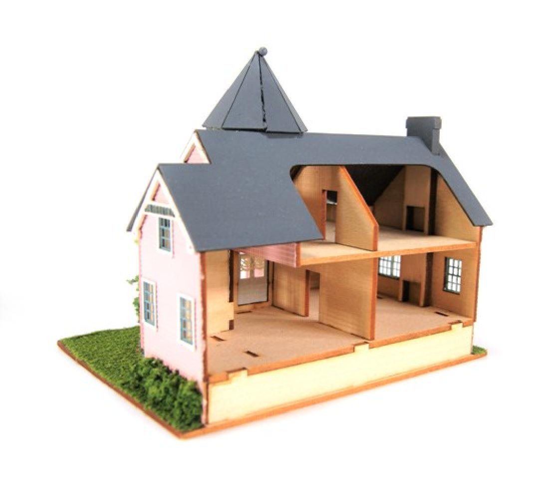 Small Toy Houses for Dollhouse Display Miniatures - 4