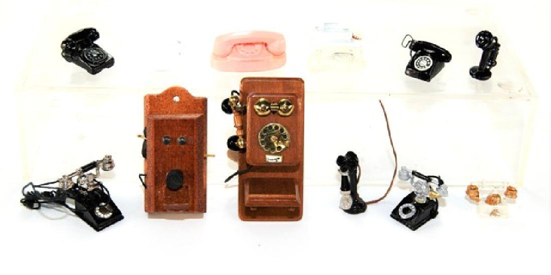 Victor Franco & Others Dollhouse Miniature Telephones