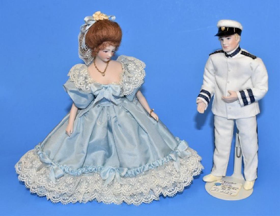 Pair of Rae Stimler Dollhouse Dolls Miniatures