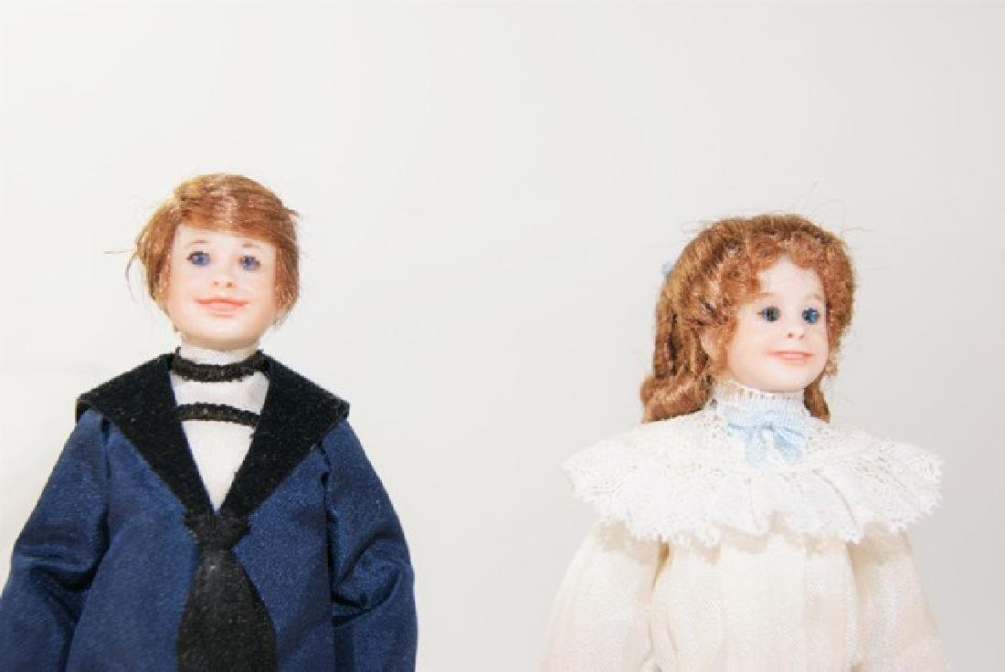 Five Artisan Dollhouse Children Dolls Miniatures - 2
