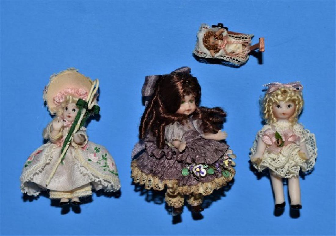 Three Tina Richardson Dollhouse Dolls Miniatures