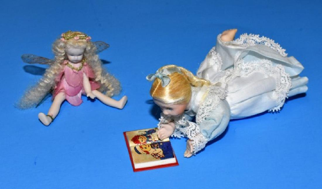 Sugarfoot Fairy & Cohen Dollhouse Dolls
