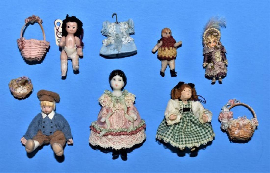 Six Artisan Dollhouse Dolls Miniatures