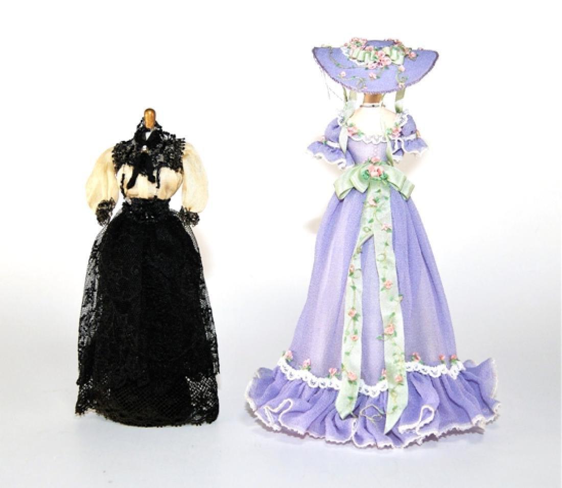 Two Dollhouse Clothes Mannequins Miniatures