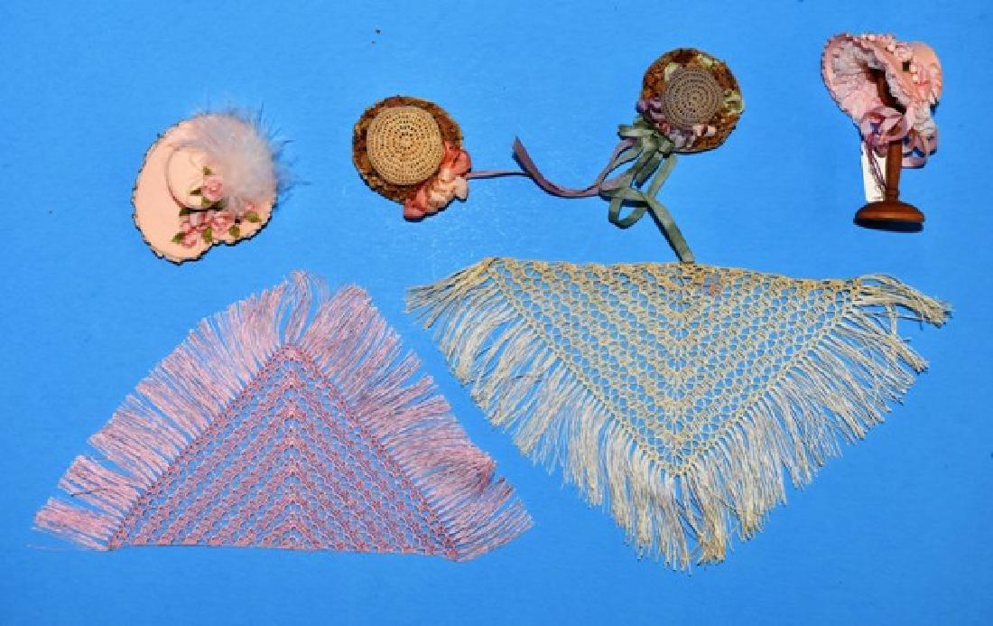 Dollhouse Doll Hats & Shawls Miniatures