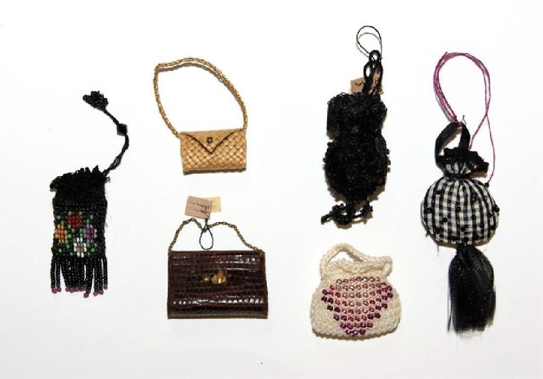 Five Susan Harmon Dollhouse Doll Purses Miniatures