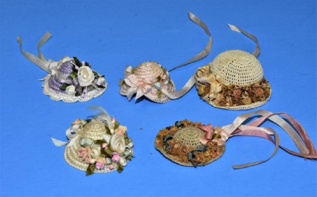 Five Susan Harmon Dollhouse Doll Hats Miniatures