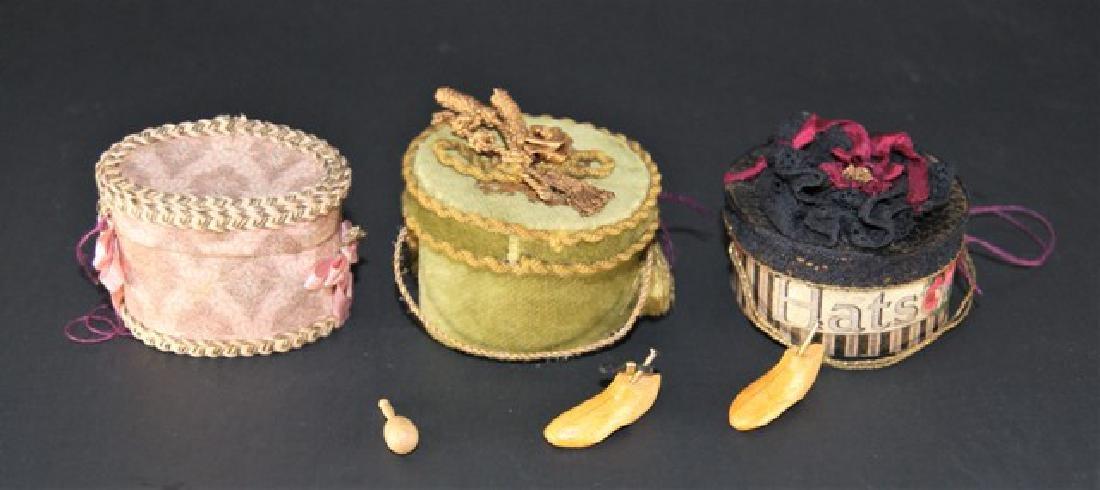 Three Susan Harmon Dollhouse Hatboxes & Other