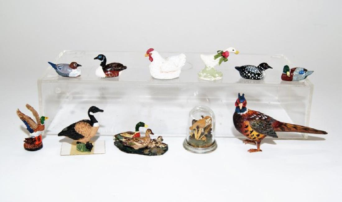 Ducks & Birds for Dollhouse Miniatures