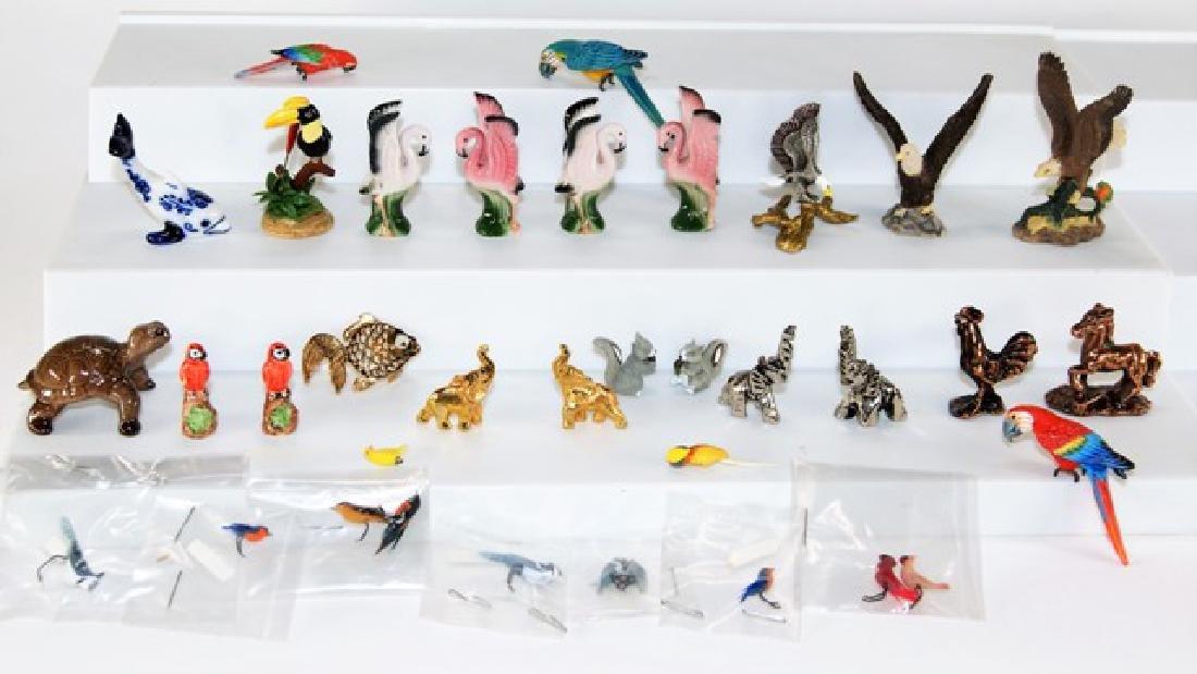 Dollhouse Sized Miniature Birds & Animals Miniatures