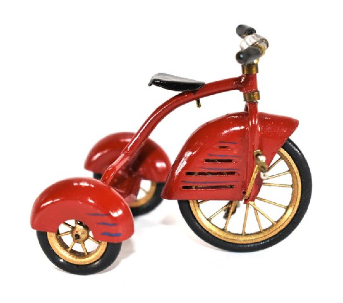 Cliff Feltrope Trike & Other Toys for Dollhouse - 2