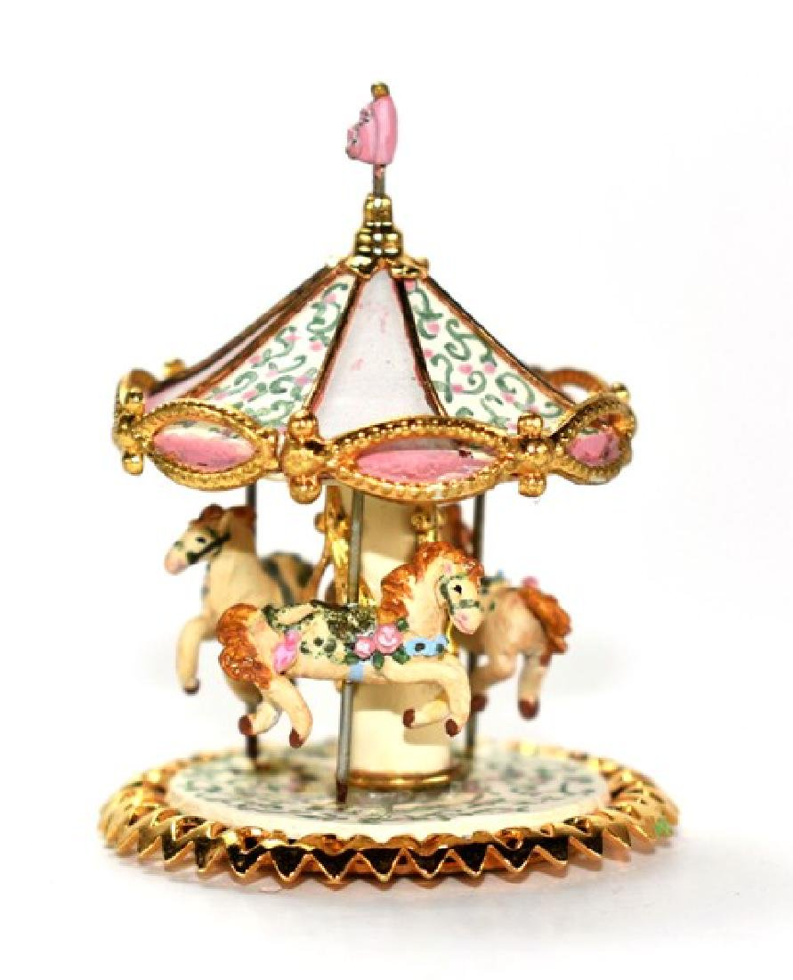 Holly Allen Artisan Miniature Carousel for Dollhouse