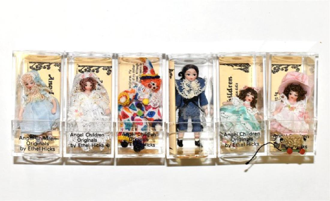 Six Ethel Hicks Dollhouse Miniature Dolls