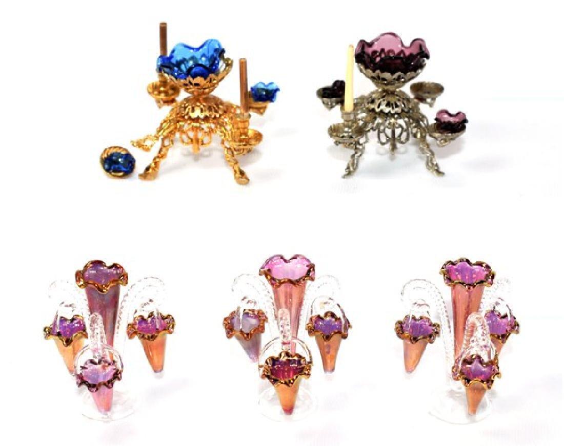 Petite Elite & Blauer Dollhouse Epergnes Miniatures