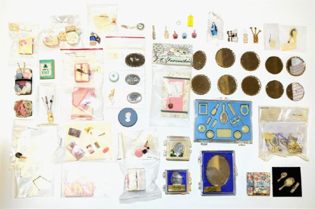 Large Lot of Dollhouse Lady's Accessories Miniatures