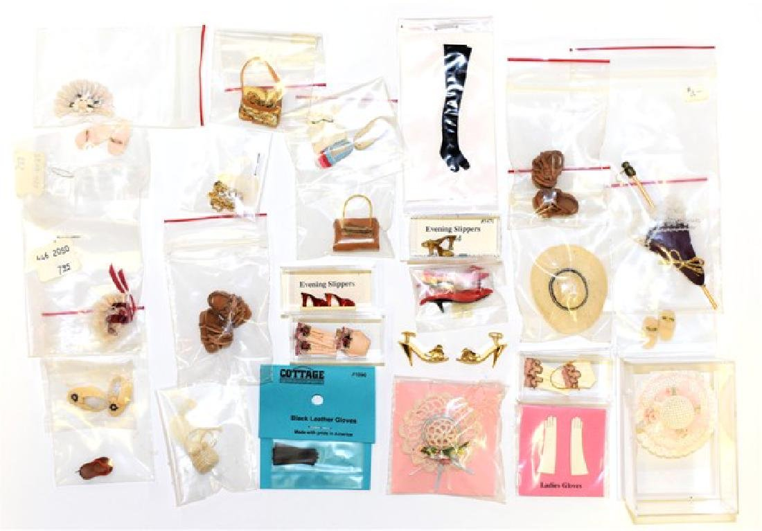 Group of Dollhouse Lady's Clothing Accessories