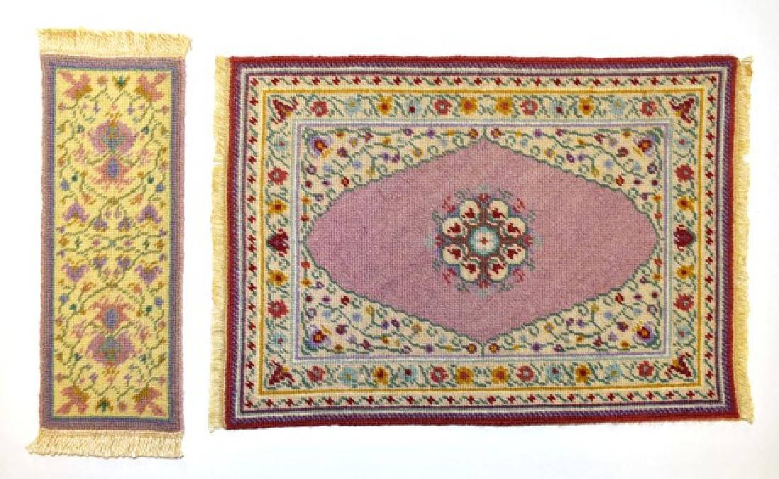 Petit Point Embroidered Dollhouse Rugs Miniatures