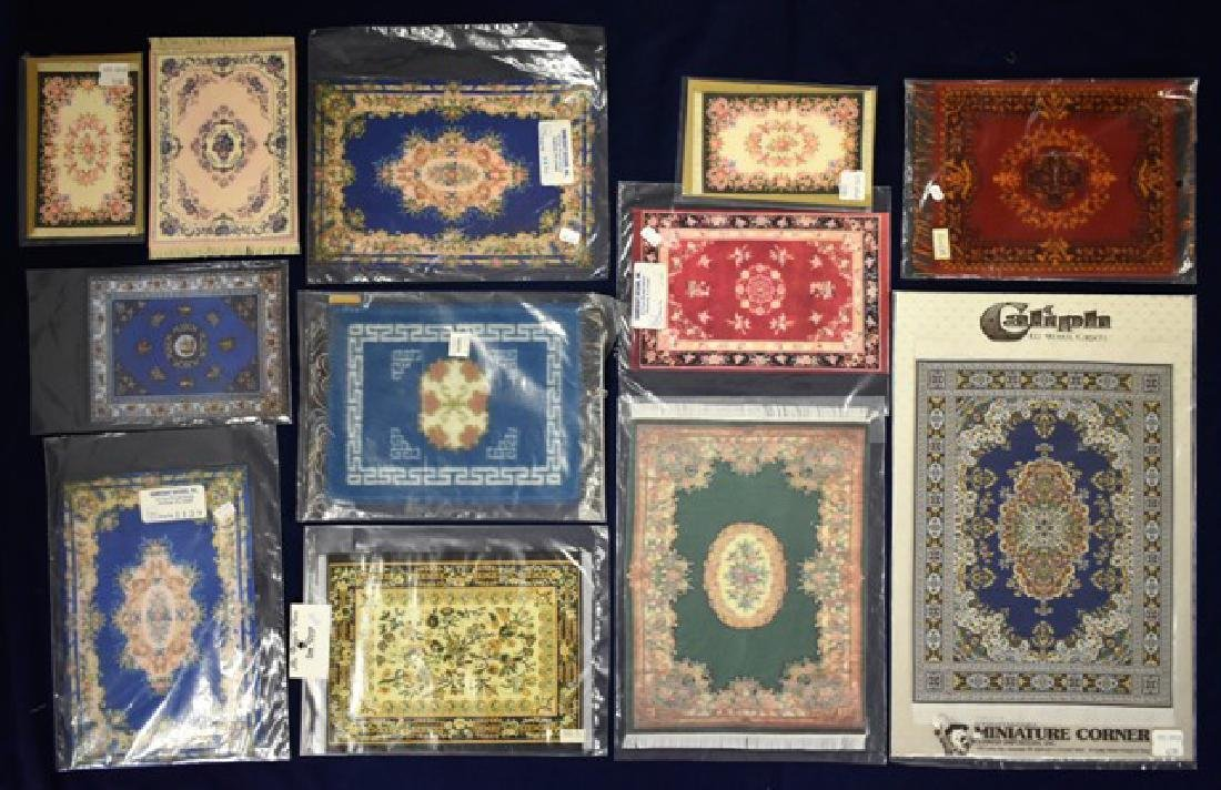 Twelve Dollhouse Carpets Miniatures