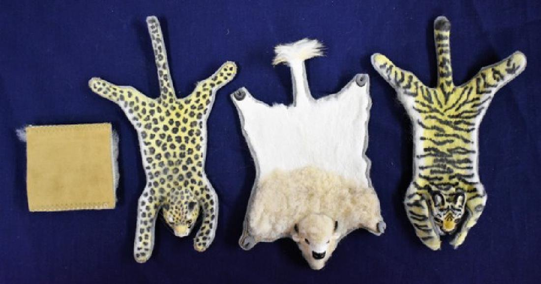 Dollhouse Tiger, Leopard, Bear & Sheepskin Rugs