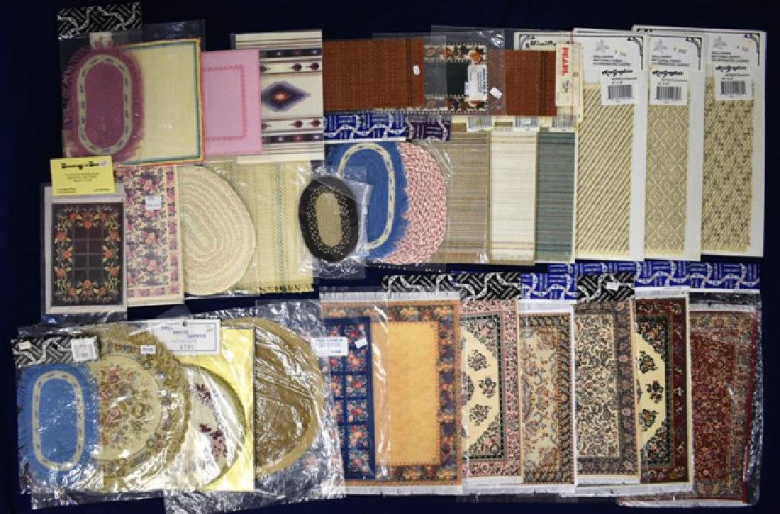 Twenty Six Dollhouse Carpets Miniatures