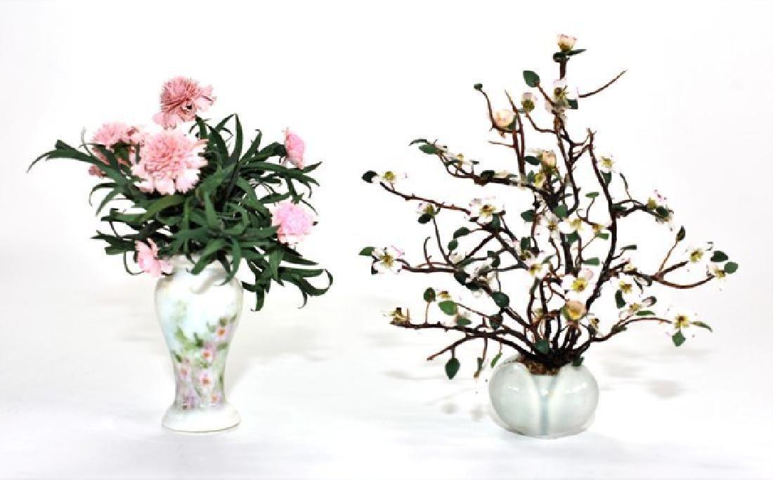 Two Sandra Wall Artisan Dollhouse Plants Miniatures