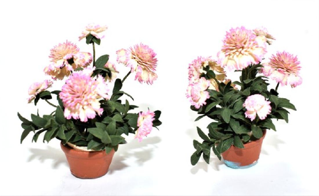 Two Sandra Wall Artisan Dollhouse Rhododendron