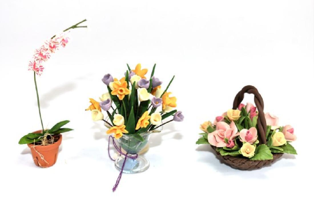 Dollhouse Miniature Artisan Flowers