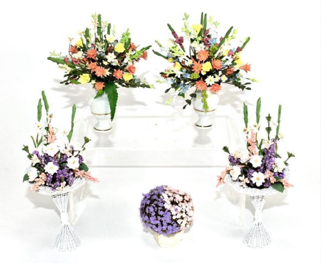 Five Dollhouse Flower Arrangements Miniatures