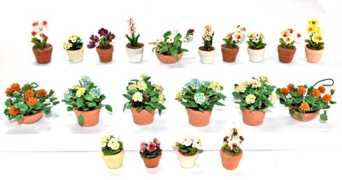 Twenty Dollhouse Small Plants Miniatures